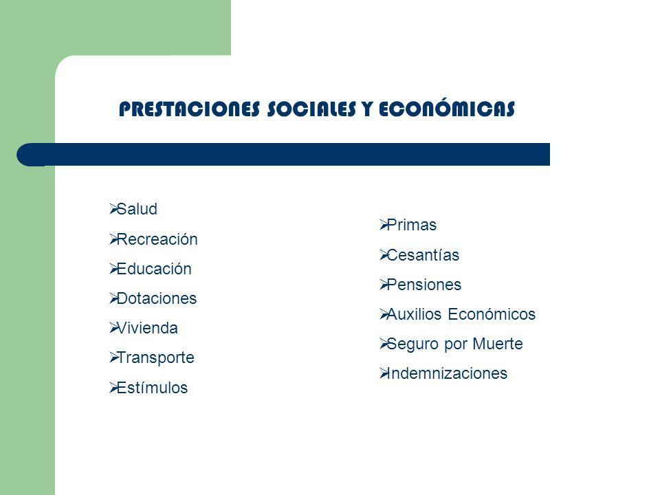 PRESTACIONES SOCIALES Y ECONÓMICAS