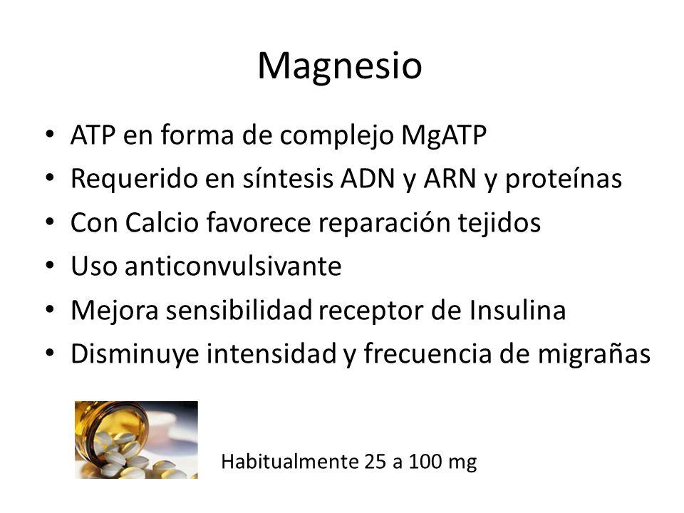 Magnesio ATP en forma de complejo MgATP