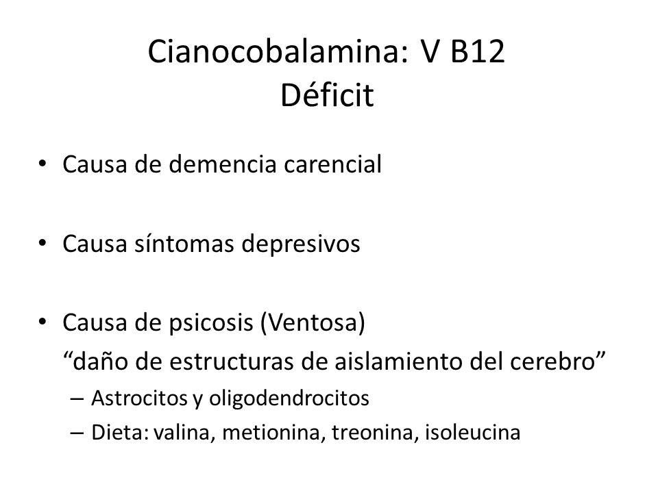 Cianocobalamina: V B12 Déficit