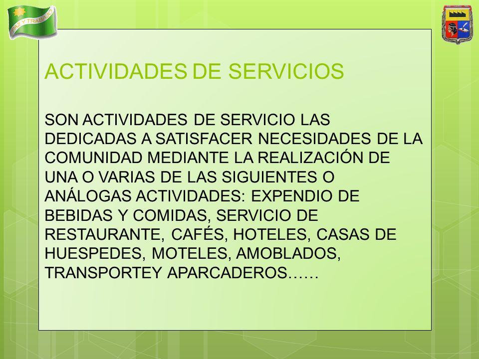 ACTIVIDADES DE SERVICIOS