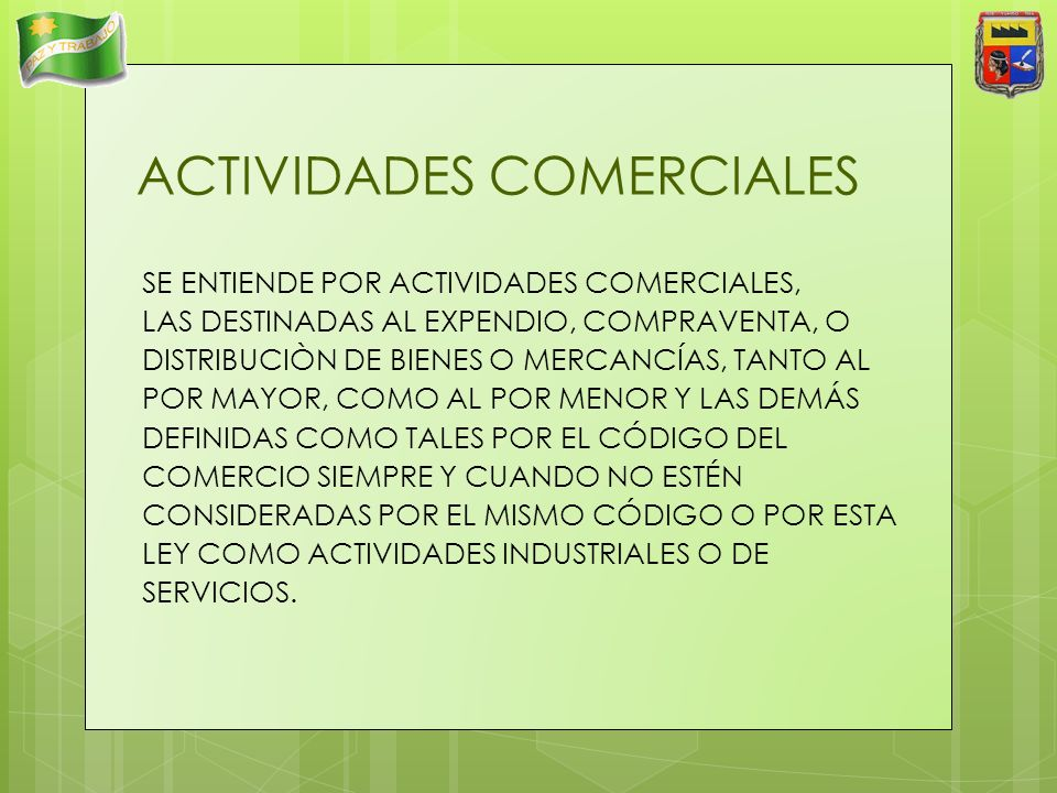ACTIVIDADES COMERCIALES