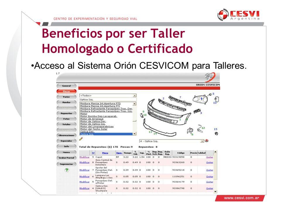 Beneficios por ser Taller Homologado o Certificado