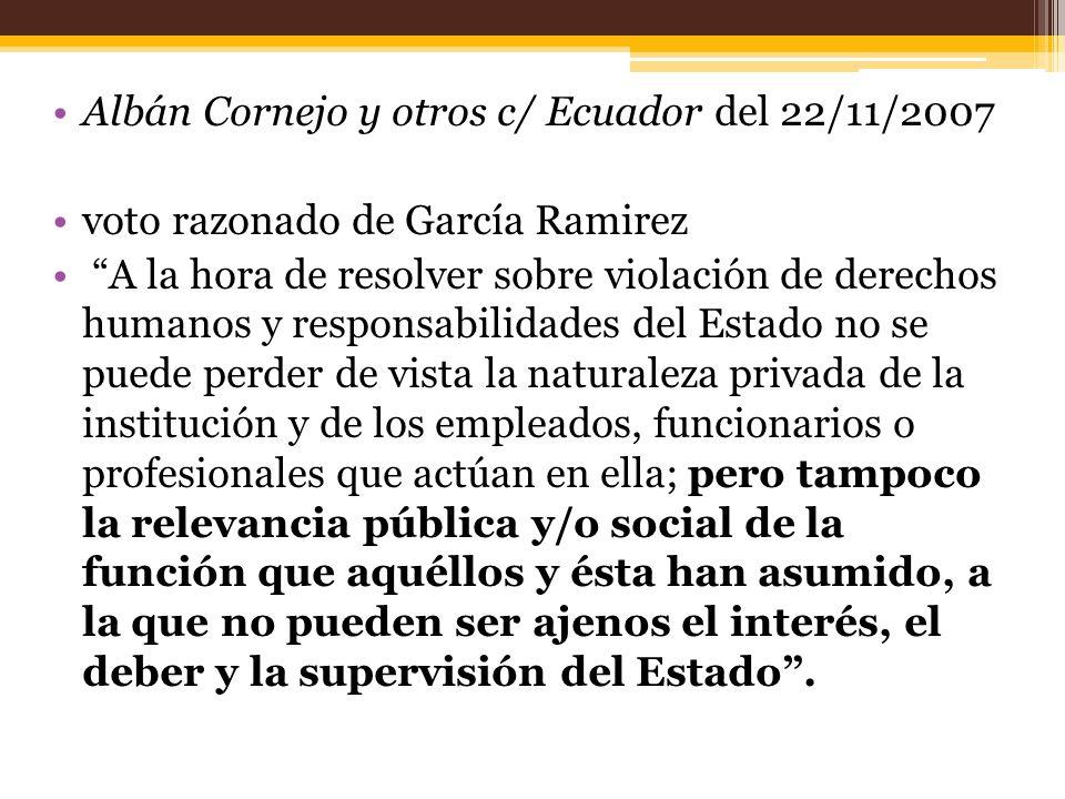 Albán Cornejo y otros c/ Ecuador del 22/11/2007