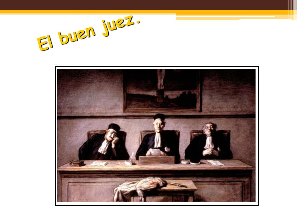 El buen juez.