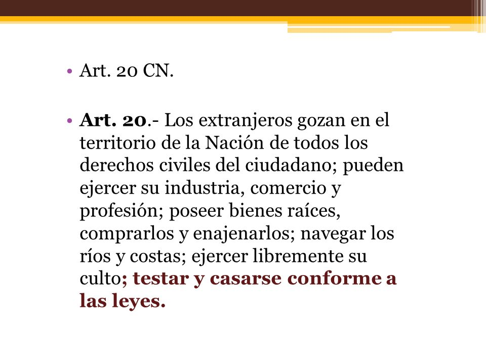 Art. 20 CN.