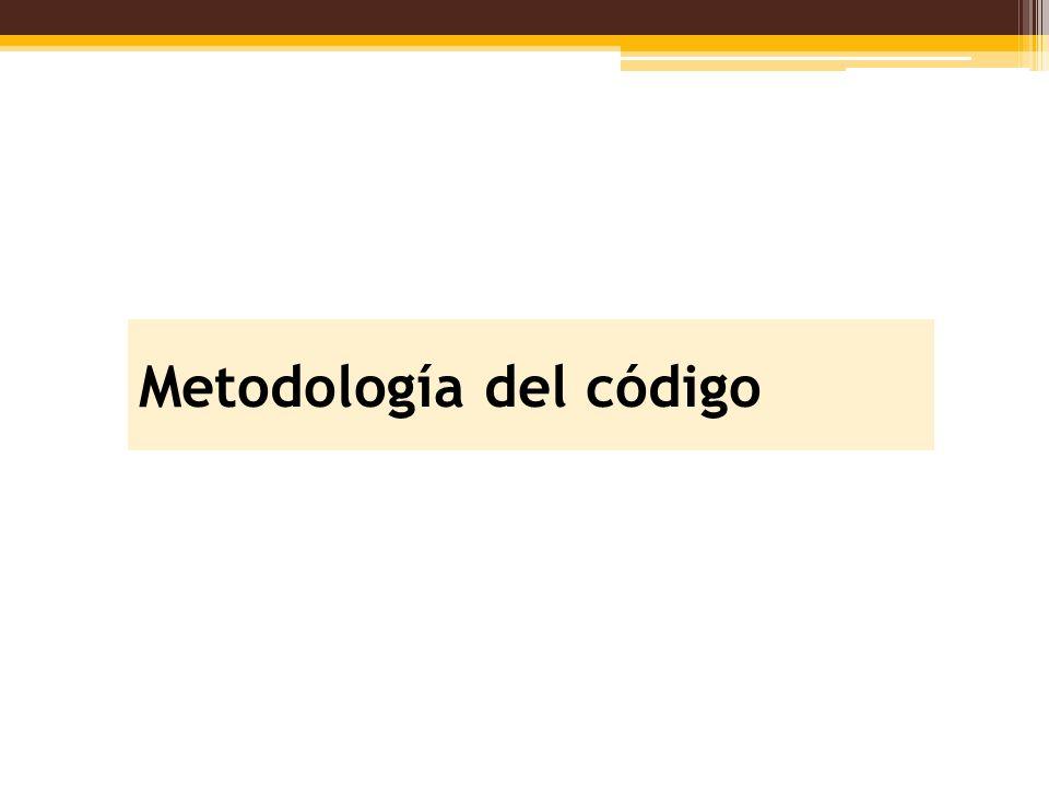 Metodología del código