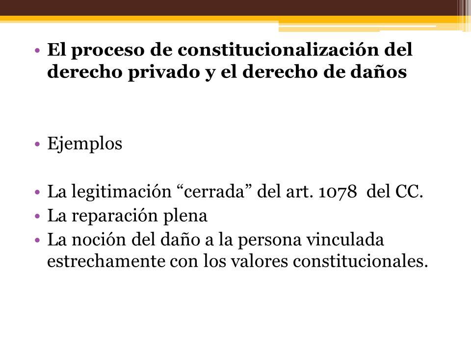 El proceso de constitucionalización del derecho privado y el derecho de daños