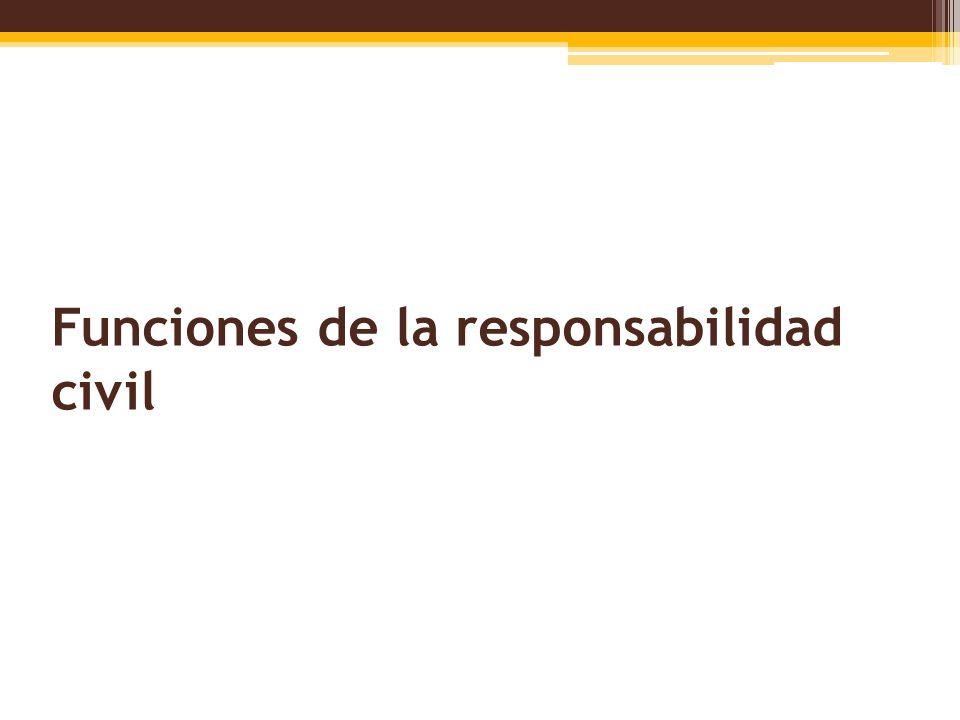 Funciones de la responsabilidad civil