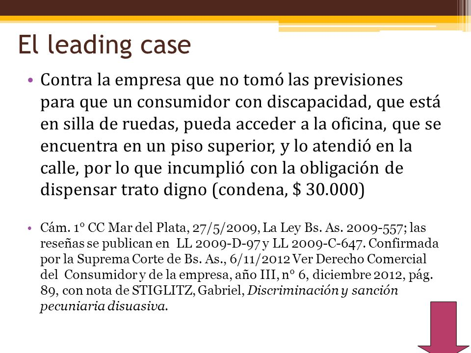 El leading case
