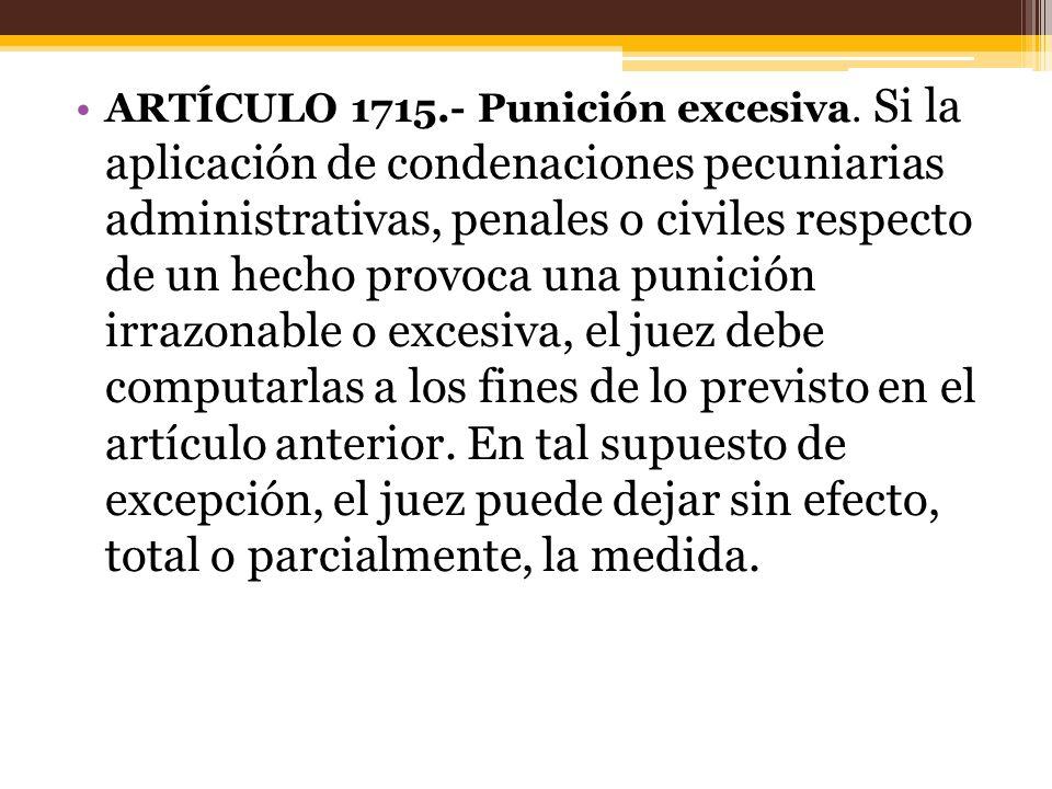 ARTÍCULO 1715. - Punición excesiva