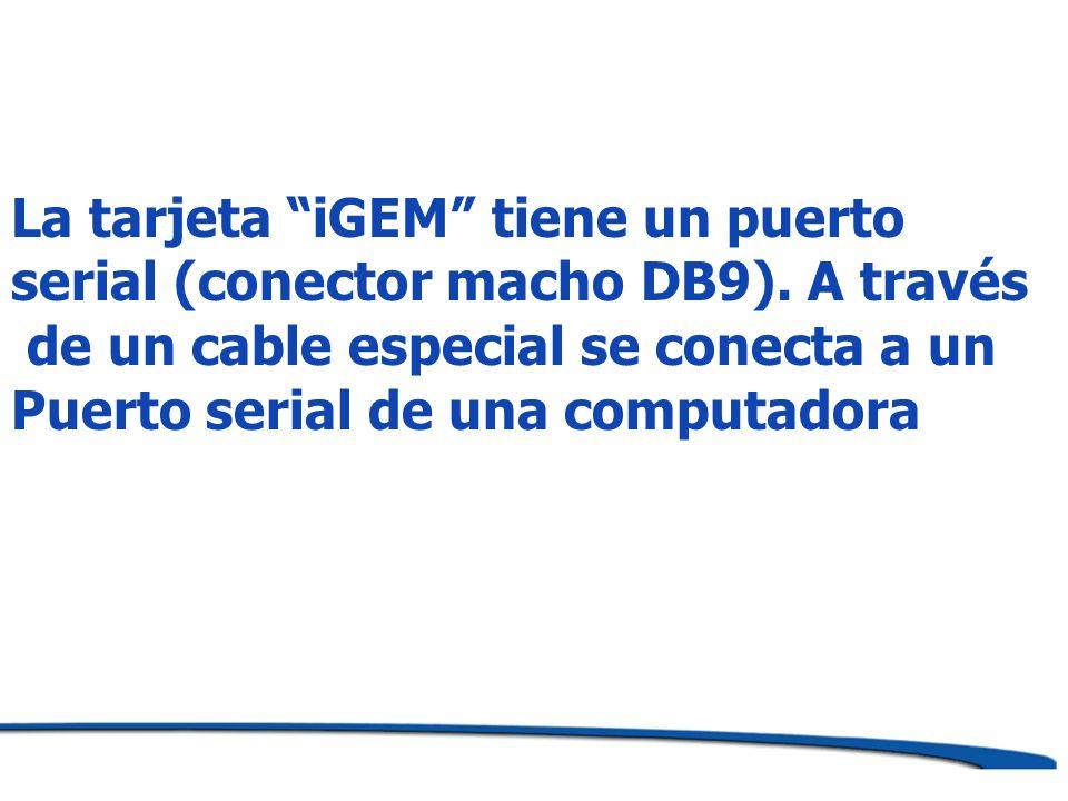 La tarjeta iGEM tiene un puerto