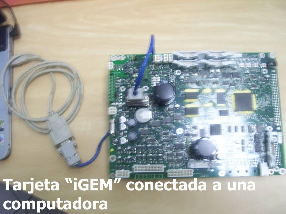 Tarjeta iGEM conectada a una