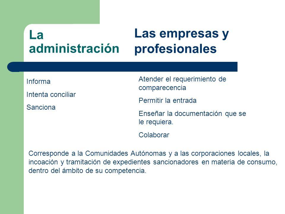 Las empresas y profesionales