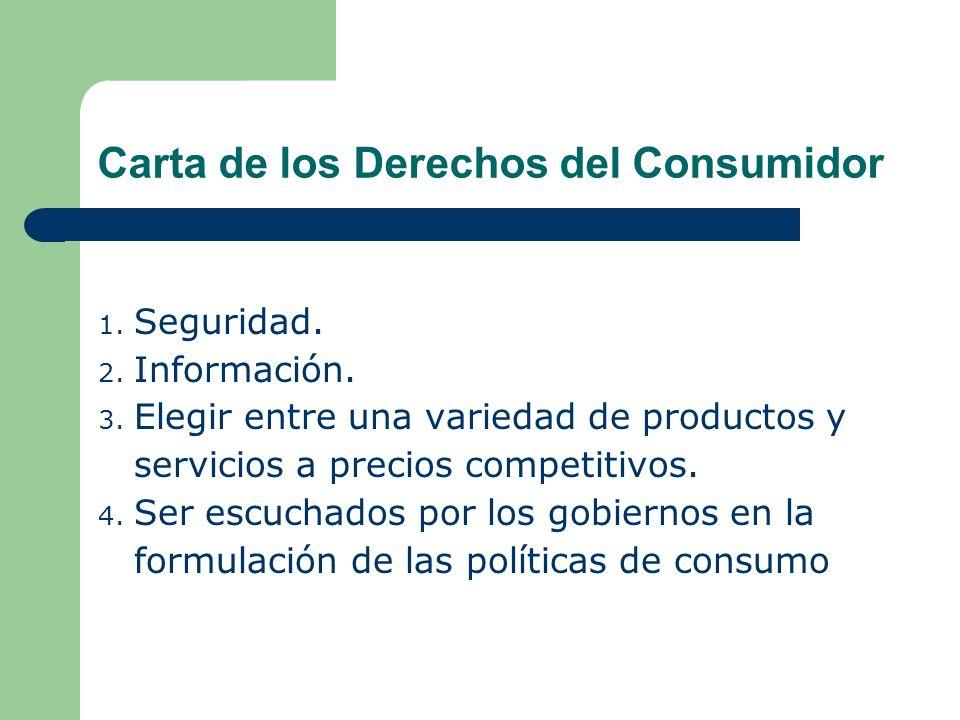 Carta de los Derechos del Consumidor