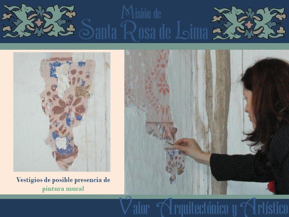 Vestigios de posible presencia de pintura mural
