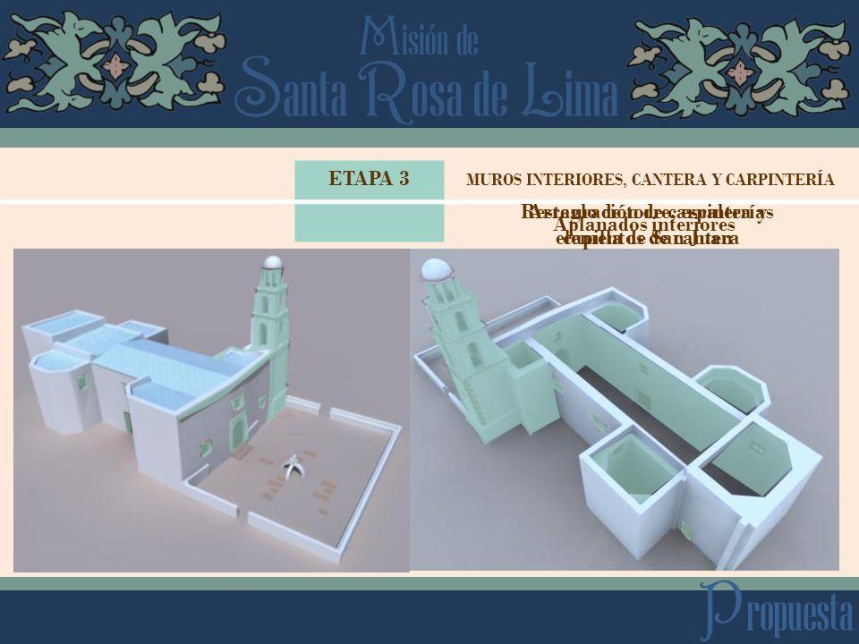 Propuesta ETAPA 3 Restauración de carpinterías elementos de cantera