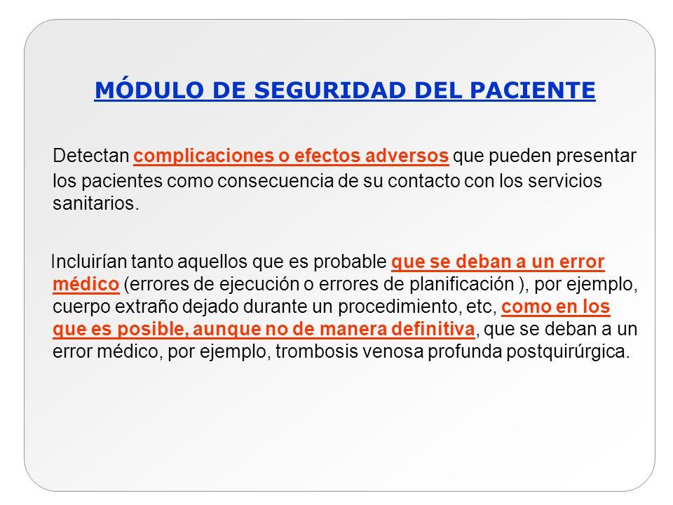 MÓDULO DE SEGURIDAD DEL PACIENTE