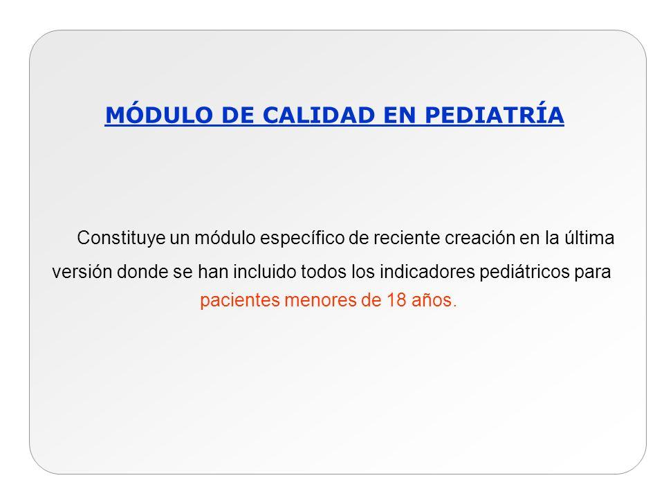 MÓDULO DE CALIDAD EN PEDIATRÍA