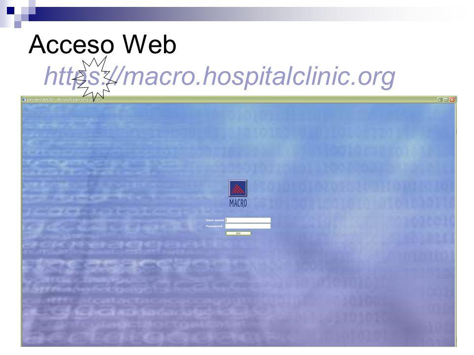 Acceso Web https://macro.hospitalclinic.org