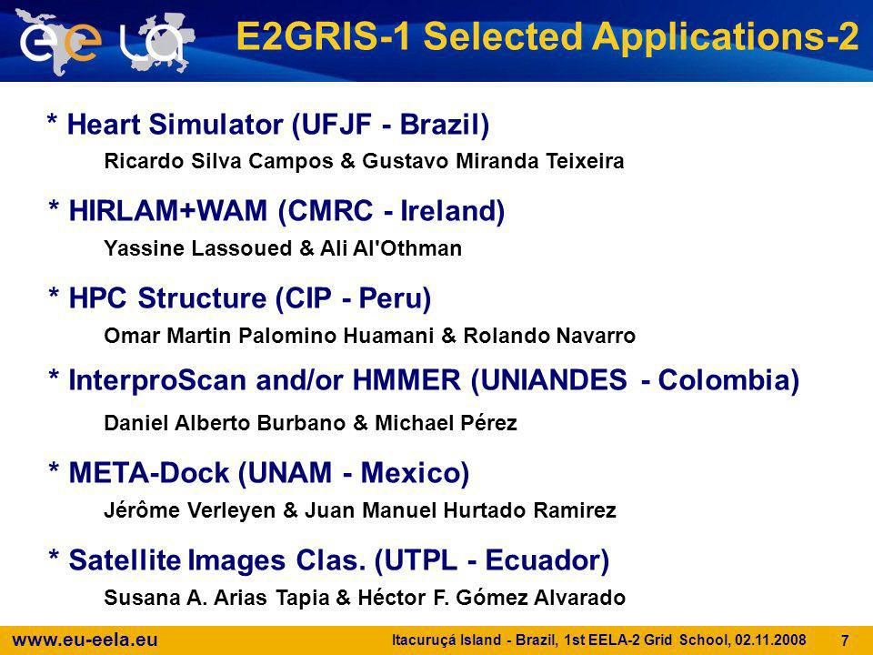 E2GRIS-1 Selected Applications-2