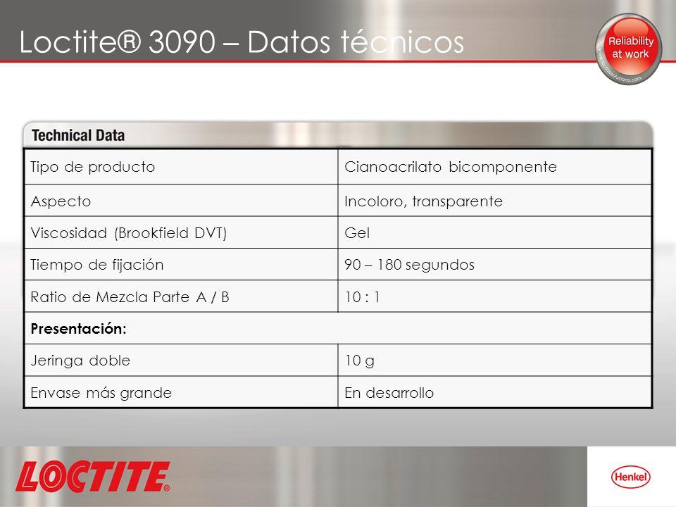 Loctite® 3090 – Datos técnicos