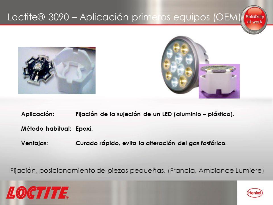 Loctite® 3090 – Aplicación primeros equipos (OEM)