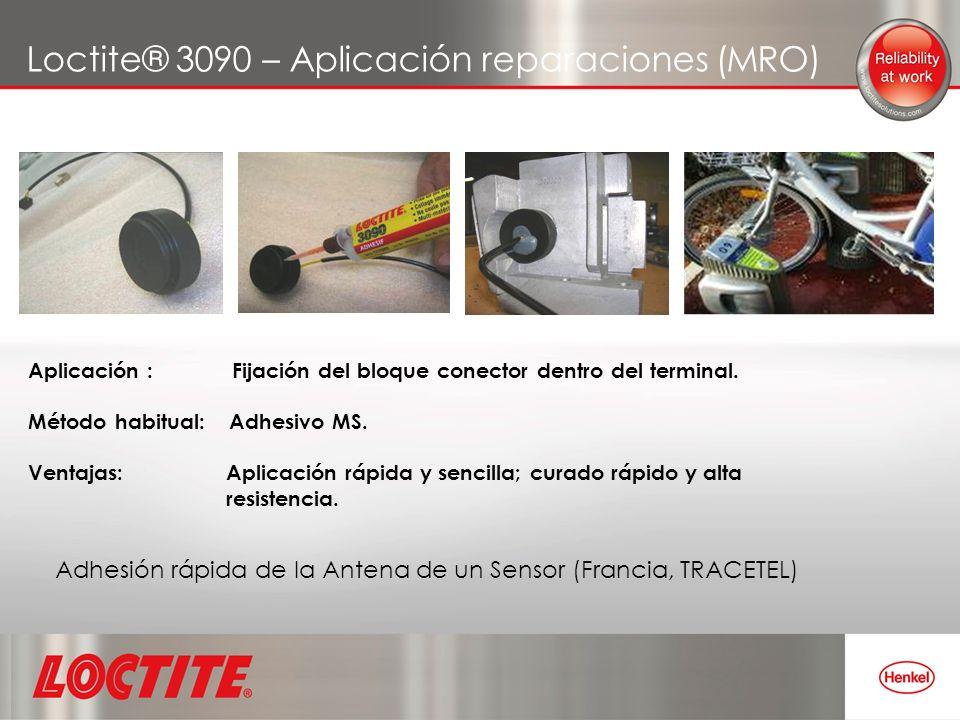 Loctite® 3090 – Aplicación reparaciones (MRO)
