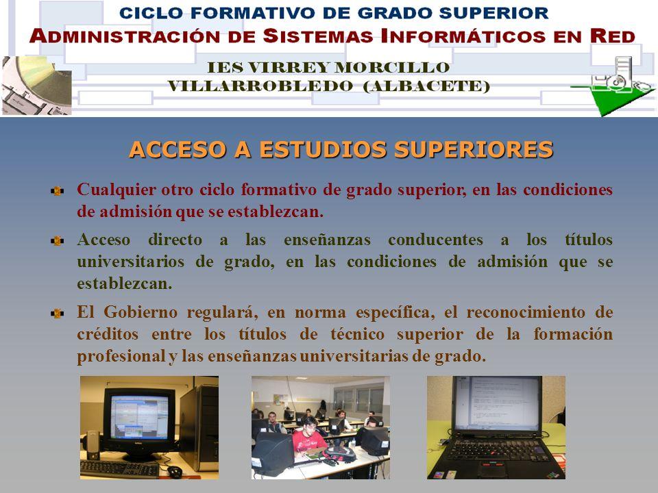 ACCESO A ESTUDIOS SUPERIORES