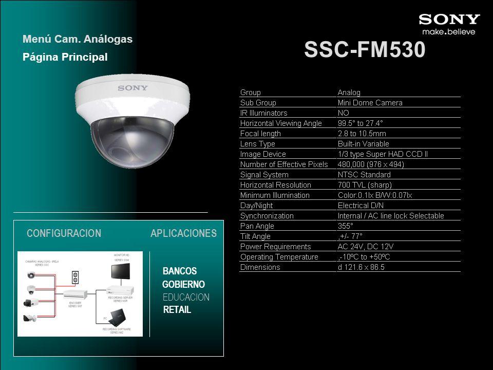 SSC-FM530 Menú Cam. Análogas Página Principal CONFIGURACION