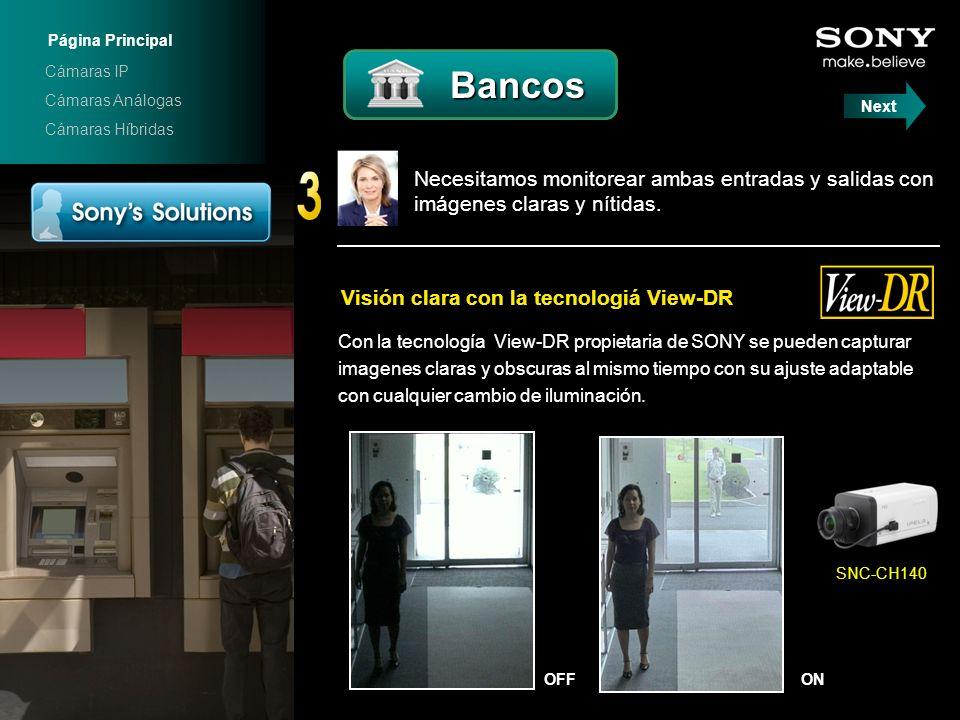 Página Principal Cámaras IP. Bancos. Cámaras Análogas. Next. Cámaras Híbridas.
