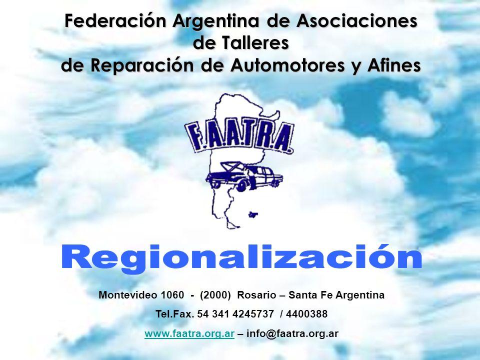 Regionalización Federación Argentina de Asociaciones