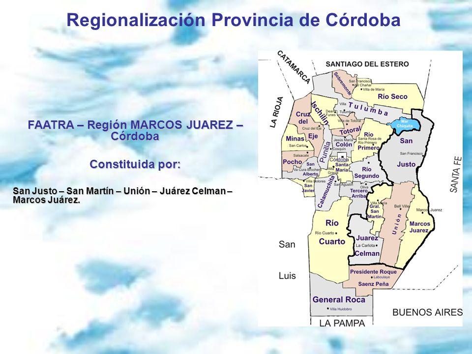 Regionalización Provincia de Córdoba