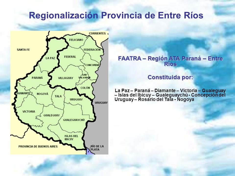 Regionalización Provincia de Entre Ríos