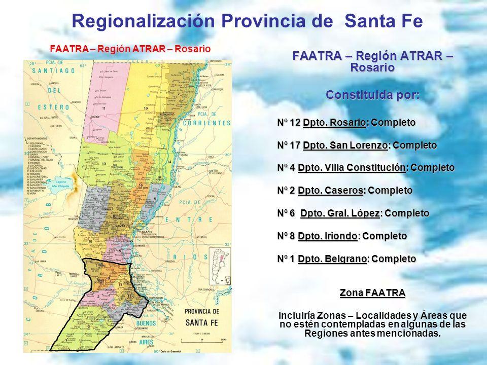 Regionalización Provincia de Santa Fe