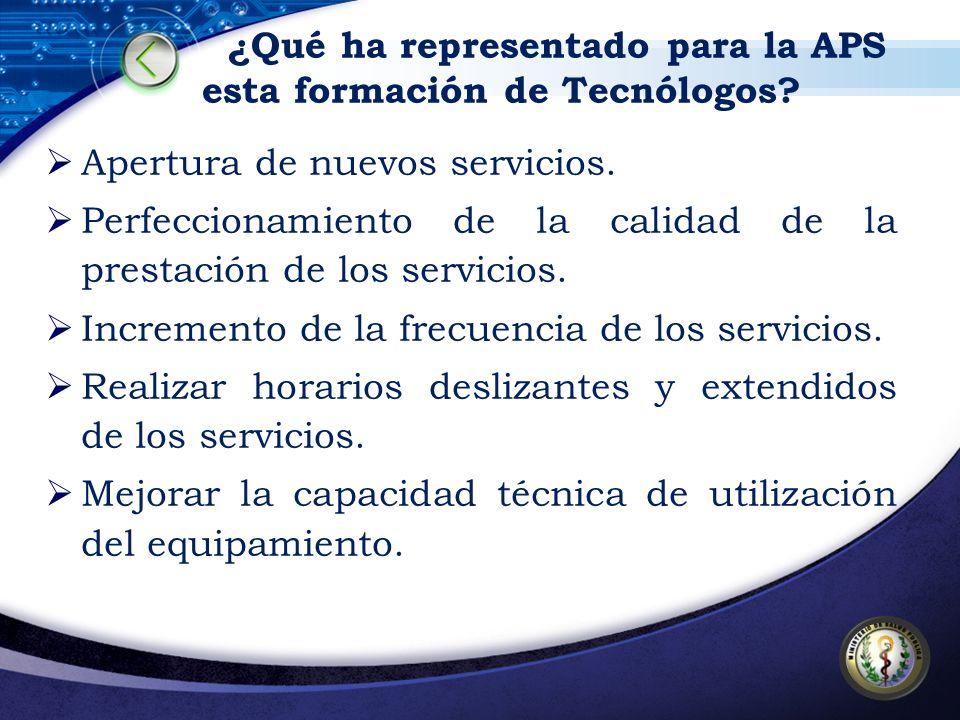 ¿Qué ha representado para la APS esta formación de Tecnólogos