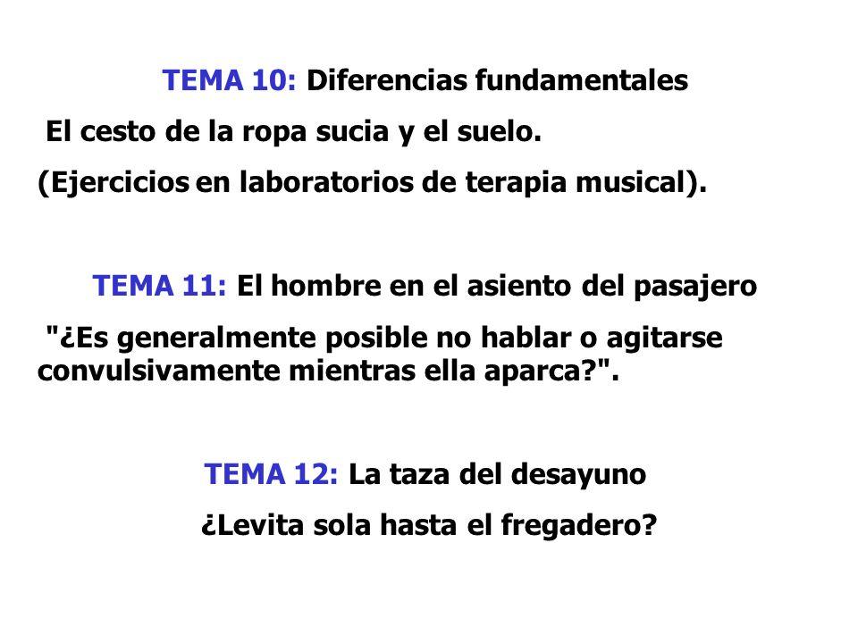 TEMA 10: Diferencias fundamentales