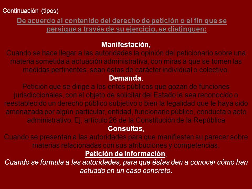 Petición de información,
