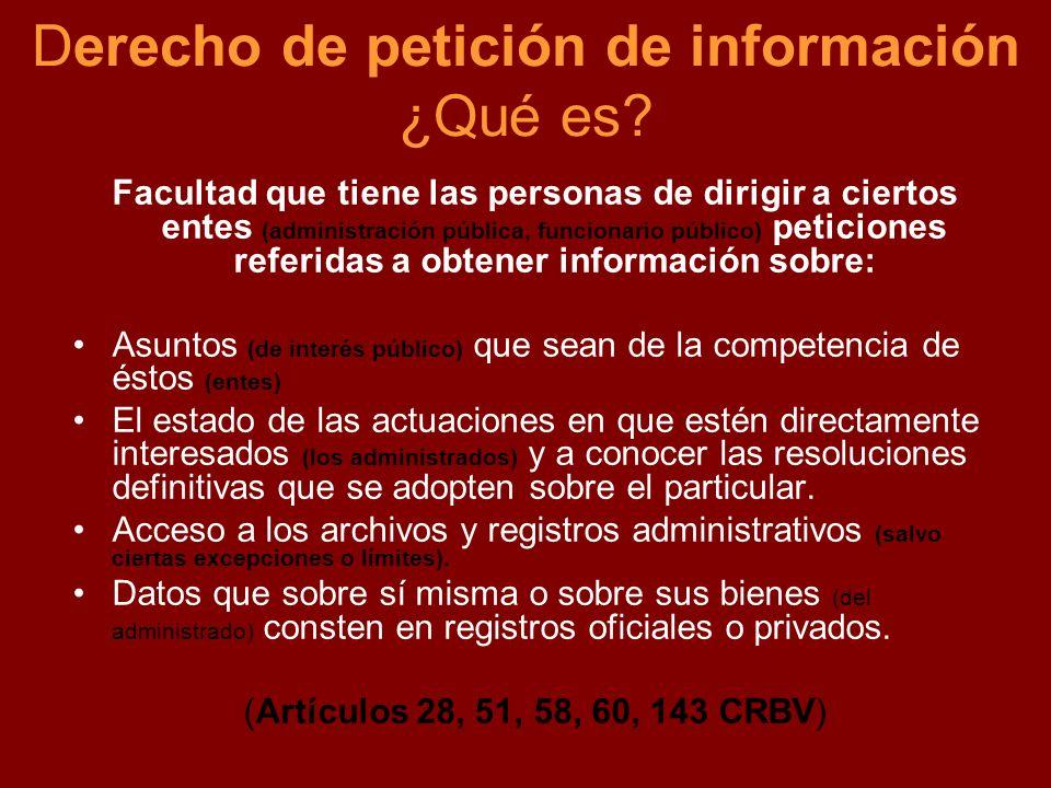 Derecho de petición de información ¿Qué es
