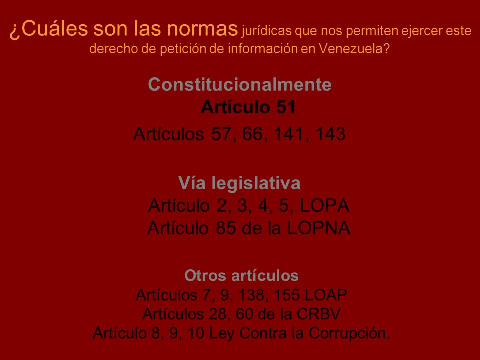 Constitucionalmente Artículo 51