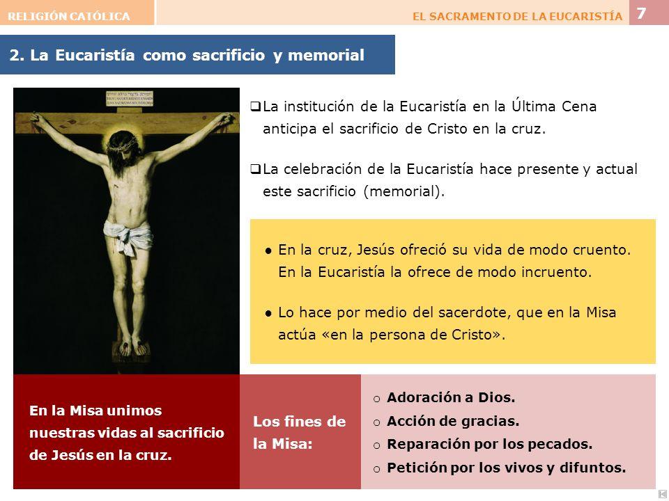 2. La Eucaristía como sacrificio y memorial