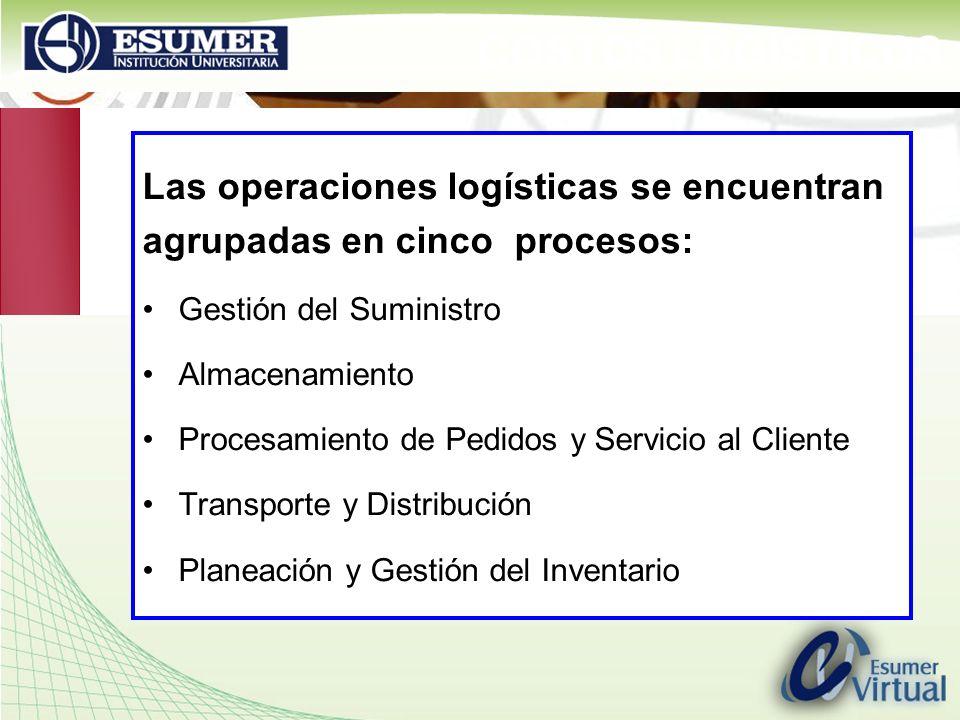 COSTOS LOGÍSTICOS Las operaciones logísticas se encuentran