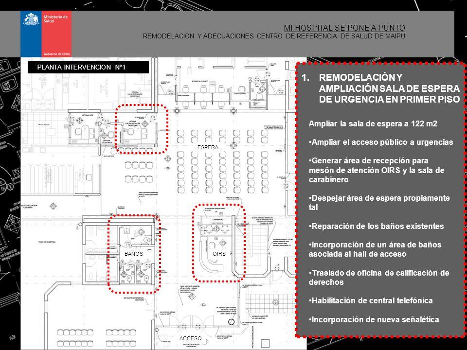 REMODELACIÓN Y AMPLIACIÓN SALA DE ESPERA DE URGENCIA EN PRIMER PISO