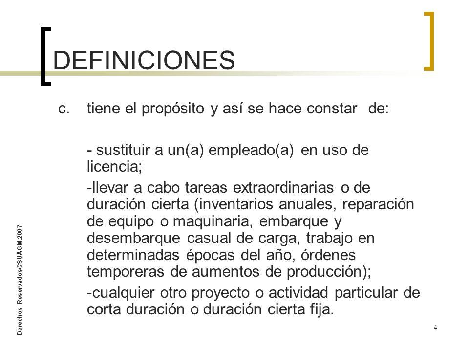 DEFINICIONES c. tiene el propósito y así se hace constar de: