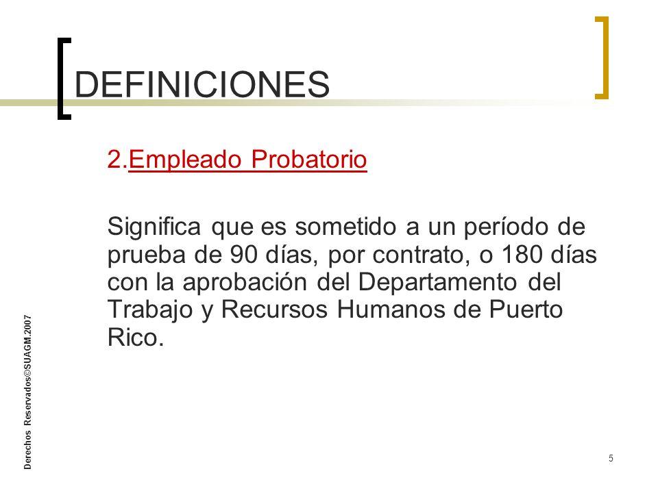 DEFINICIONES 2.Empleado Probatorio