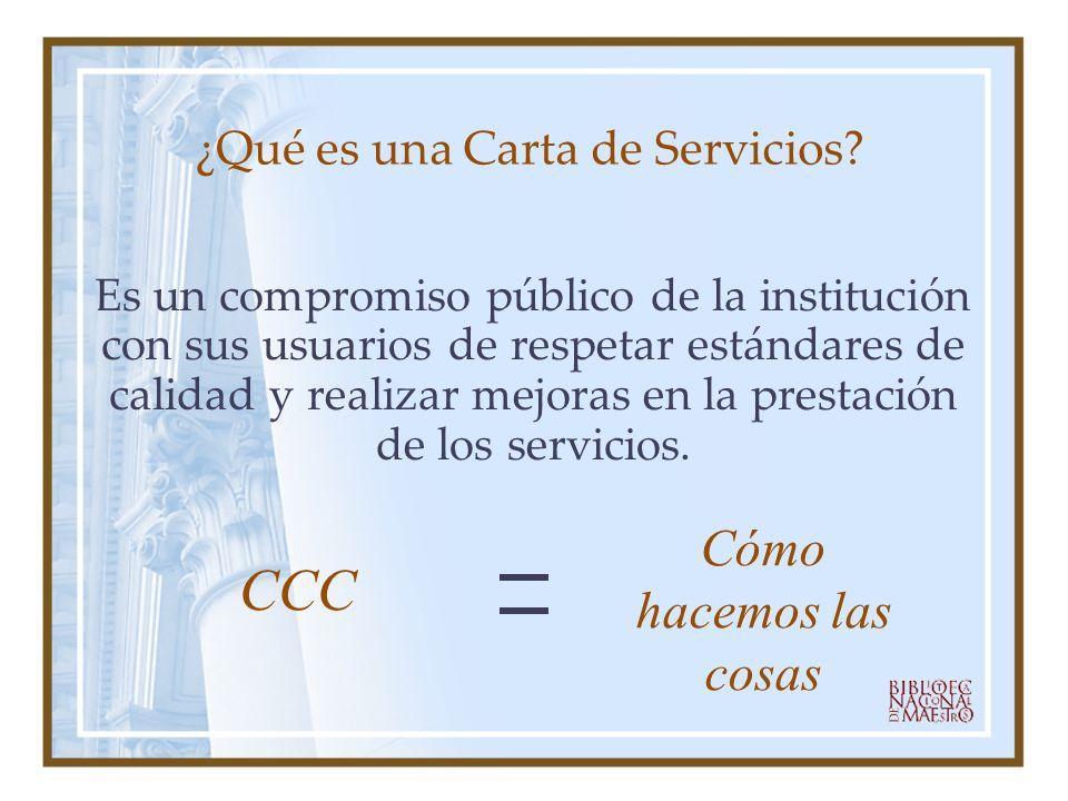 ¿Qué es una Carta de Servicios