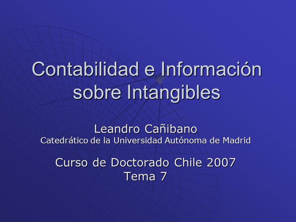 Contabilidad e Información sobre Intangibles