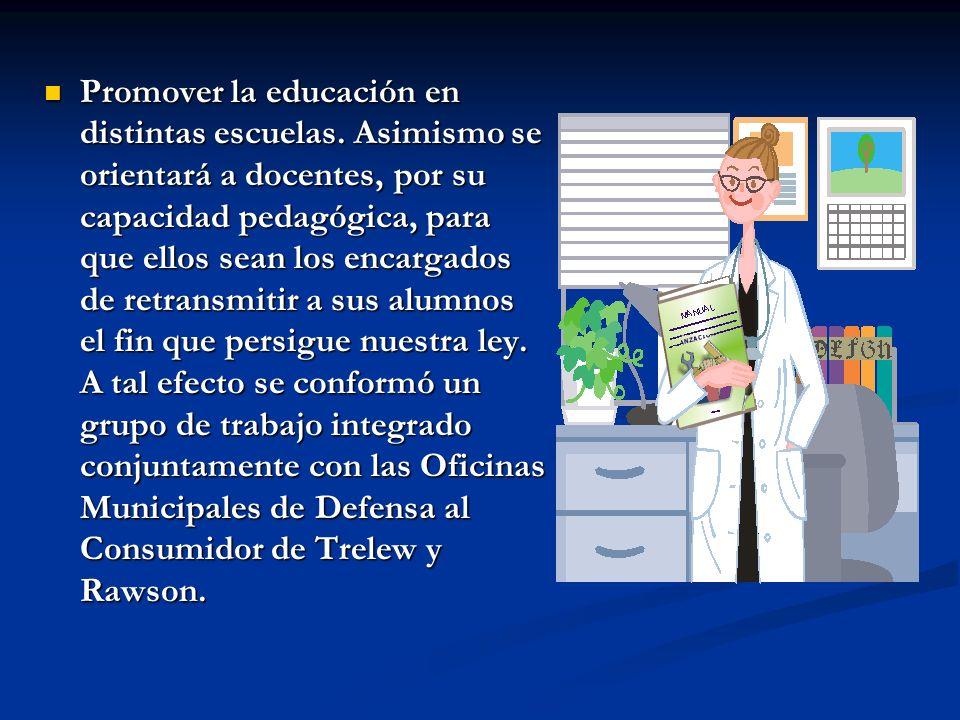 Promover la educación en distintas escuelas