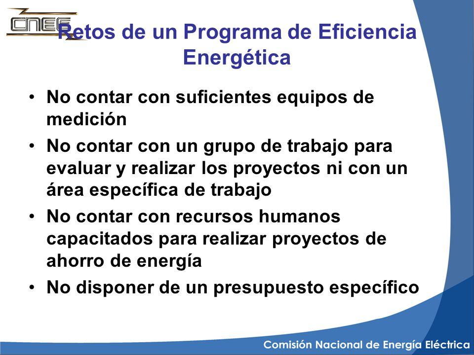 Retos de un Programa de Eficiencia Energética