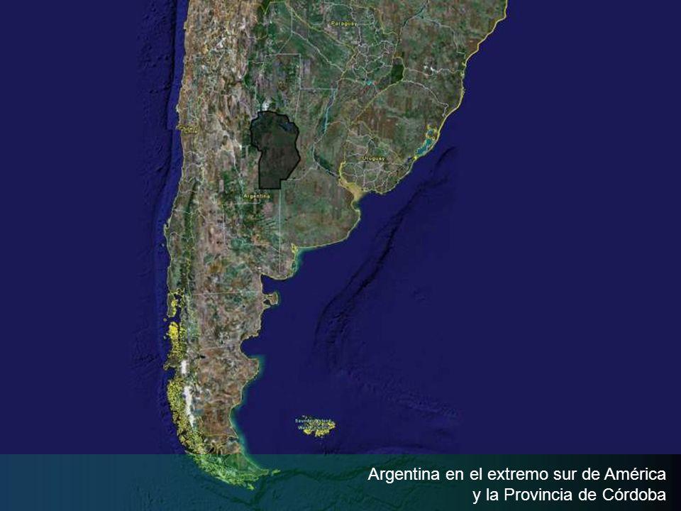 Argentina en el extremo sur de América y la Provincia de Córdoba
