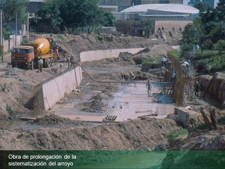 Obra de prolongación de la sistematización del arroyo